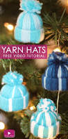 yarn hat holiday ornaments studio knit