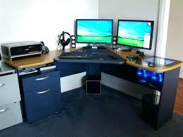 Dual Monitor Computer Desks Computer Desk 2 Monitors Eatsafe Co