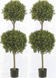 Topiary Plants Online - amazon com two 34 inch outdoor artificial boxwood double ball
