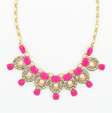 resin statement necklace images Double gem collar necklace pink necklace bib with resin jpg