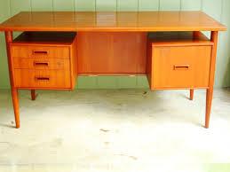 danish modern secretary desk home design graceful danish modern teak desk 5926216447