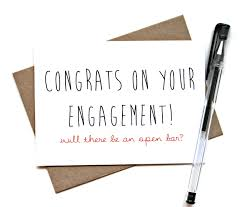 Engagement Congratulations Card Engagement Card U0027congrats On Your Engagement Will There