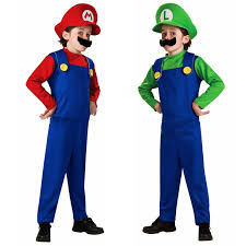 Costumes For Kids Aliexpress Com Buy Halloween Costumes Funny Super Mario Luigi