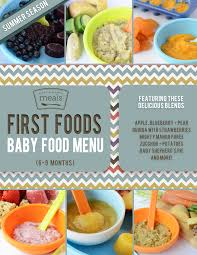 food of the month foods 6 9 month summer baby food menu baby