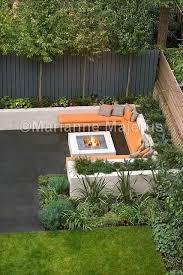Garden Firepit Chill Out Garden Contemporary Seating Area With Firepit