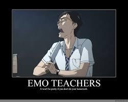 Emo Meme - emo teachers anime meme com