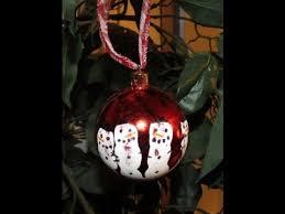 diy kid handprint snowmen ornament