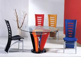 modern dining room table sets white vinyl flooring round wooden