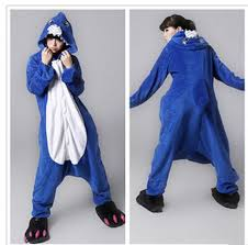 Shark Halloween Costume Women Sale Lovely Cheap Blue Shark Kigurumi Pajamas Anime Pyjamas