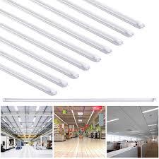 4ft Led Light Bulbs by 1 10 25 Pack 18w 4ft White T8 Led Tube Light Bulb Fluorescent
