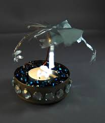 spinning sparkling candle carousel 8 steps with pictures
