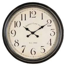 creative clocks whitley 24 5 in aged black tin oversized wall clock hayneedle