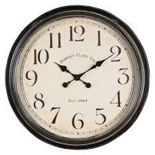 creative clocks whitley 24 5 in aged black tin oversized wall clock hayneedle