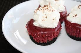 mini red velvet cheesecakes our eating habits