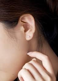 1 4 carat diamond earrings candy shape diamond earrings on 18k gold jewelocean 1 4