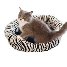 Self Warming Pet Bed K U0026h Pet Products Self Warming Nuzzle Nest Small Zebra Print Cat