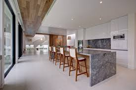 making kitchen island luxury kitchen designs combining with a white color shade making a