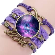 infinity love leather bracelet images Infinity love heart glass galaxy leather bracelet astral treasures jpg