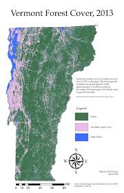 Map Vermont Forests Working The Landscape Vermont U0027s Fields Trails