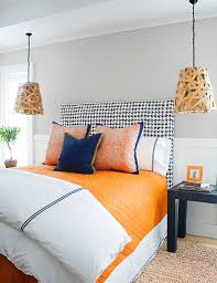 hanging picture height light diy hanging bedside lamp bedroom trend ideas wooden table
