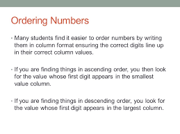 mathematics ordering numbers ppt download