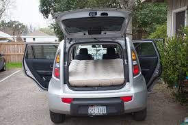 nissan cube interior backseat can you sleep or camp in a kia soul yes you can