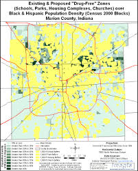 Time Zone Map Indiana by Indiana U0027s Drug Free Zone Laws Racial Impact Maps