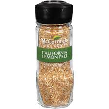 Spice Shaker Mccormick Gourmet Collection Lemon Peel 1 5 Oz Walmart Com