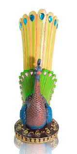 peacocks home decor peacock collectible vase crafted beautiful extravagant