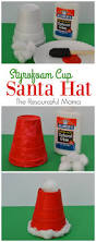 styrofoam cup santa hat kid craft the resourceful mama