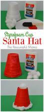 styrofoam cup santa hat kid craft the resourceful mama