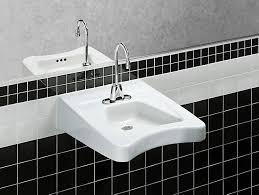 kohler commercial bathroom sinks morningside concealed carrier arm mounted wheelchair commercial