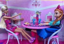barbie dining room barbie glam dining room set with anna from frozen youtube