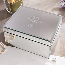 personalized boxes personalized large mirrored jewelry box custom engraved message