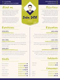 colorful modern resume curriculum vitae template with design ele
