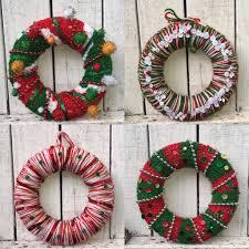 christmas crochet wreaths lincraft lincraft