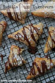 nutella cream cheese turnovers country cleaver