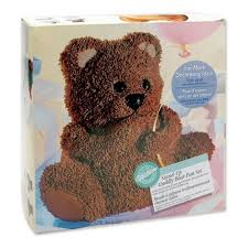 wilton 3d large cuddly teddy bear cake tin pan equipment from