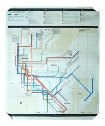 Massimo Vignelli Subway Map by Non Consumer 1972 Massimo Vignelli New York Subway Map Poster