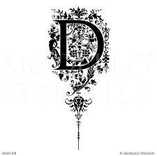 initial monograms monogram stencils modello designs