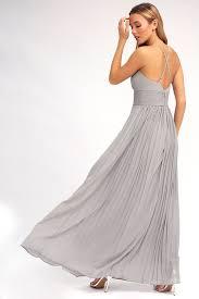 grey maxi dress stunning grey dress pleated maxi dress grey gown 78 00