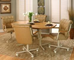 Dining Room Chairs With Casters And Arms Dining Chairs Casual Dining Furniture With Casters Full Size Of