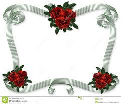 red roses wedding invitation border stock image image 9685691