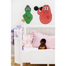 chambre barbapapa stickers enfant barbapapa barbalala et barbidur chambre