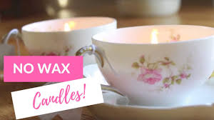 tea cup candles how to make no wax candles tea cup candles