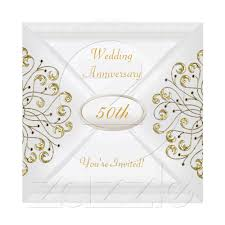 sle wedding announcements 50th wedding anniversary white gold personalized