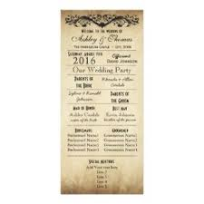 vintage wedding programs wedding program exles by themes wedding ideas