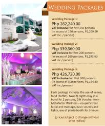 Wedding Packages Prices The Wedding Digest
