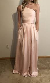 satin sash vera wang one shoulder dress with satin sash size 0 bridesmaid