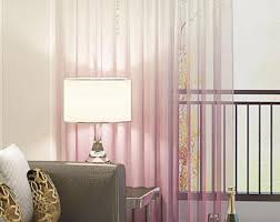 Ombre Sheer Curtains Ombré Sheer Drapery Panels Modern Ombré Fabric Curtains
